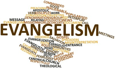 Word cloud for Evangelism