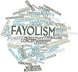 Word cloud for Fayolism