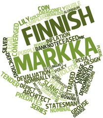 Word cloud for Finnish markka