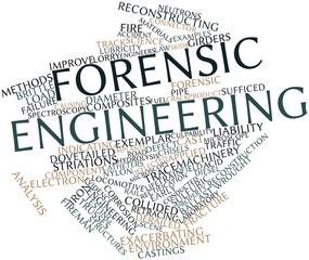 Word cloud for Forensic engineering