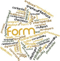 Word cloud for Form
