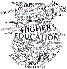 Word cloud for Higher education