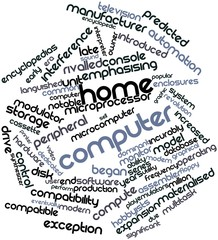 Word cloud for Home computer