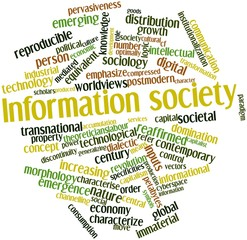 Word cloud for Information society