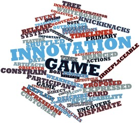 Word cloud for Innovation game