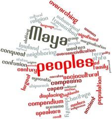 Word cloud for Maya peoples