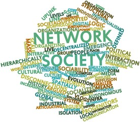 Word cloud for Network society