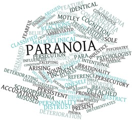 Word cloud for Paranoia