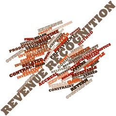 Word cloud for Revenue recognition