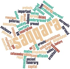 Word cloud for Saqqara
