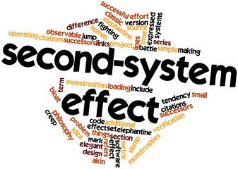 Word cloud for Second-system effect