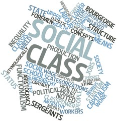 Word cloud for Social class