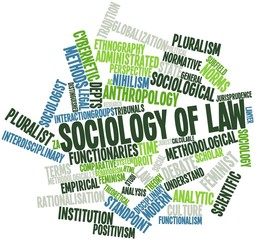 Word cloud for Sociology of law