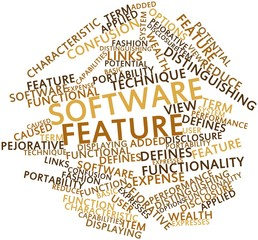 Word cloud for Software feature