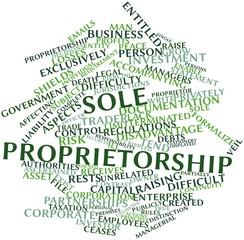 Word cloud for Sole proprietorship