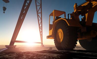 Construction machinery.