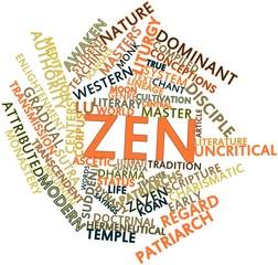 Word cloud for Zen