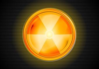 Nuclear radiation vector symbol