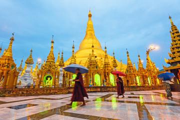 Shwedagon Pagoda at early morning in Yangon, Myanmar.