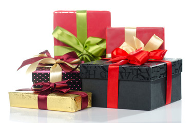 Colorful gift boxes