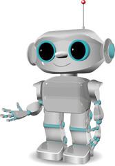 Tuinposter Robots cheerful plastic robot