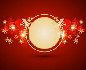 Abstract christmas background. Vector