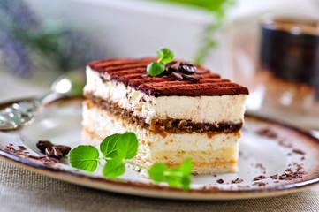 Fototapeten Desserts italienisches tiramisu