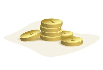 golden coins - vector illustration