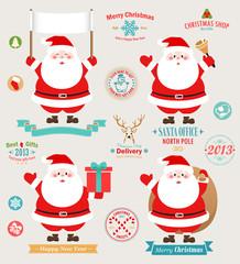 Wall Mural - Christmas set - Santa Claus