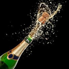 Poster de jardin Eclaboussures d eau Celebration theme with splashing champagne