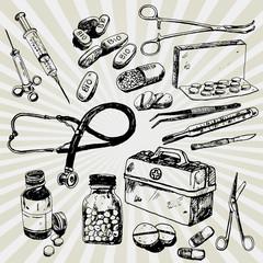 Some Medical Stuff Hand Drawn