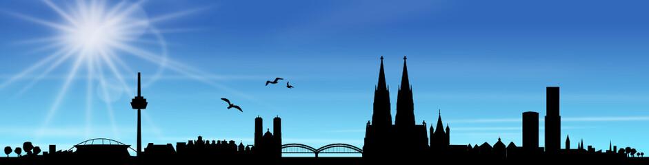 Skyline Köln Sonne Himmel