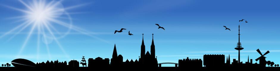 Skyline Bremen Sonne Himmel