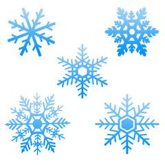 Floncons de neige bleus