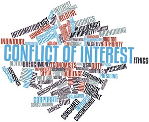 Word cloud for Conflict of interest