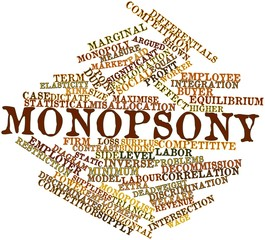 Word cloud for Monopsony