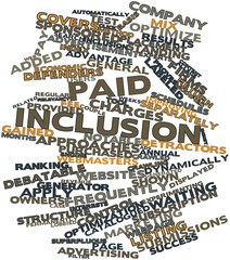 Word cloud for Paid inclusion
