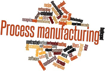 Word cloud for Process manufacturing