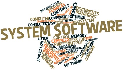 Word cloud for System software