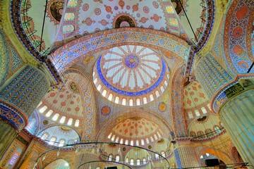 Interior view of Blue Mosque (Sultanahmet)