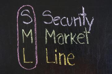 SML acronym Security Market Line