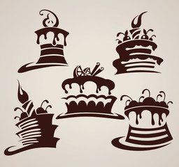 Vector collection of cakes images and arts