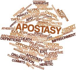 Word cloud for Apostasy