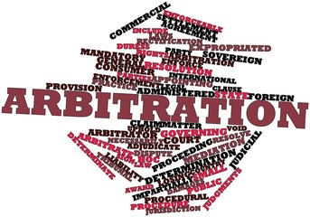 Word cloud for Arbitration