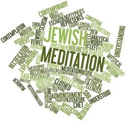 Word cloud for Jewish meditation