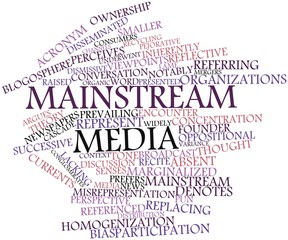 Word cloud for Mainstream media