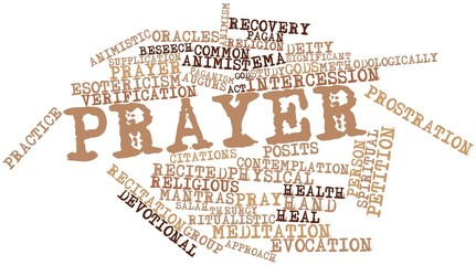 Word cloud for Prayer