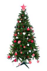 Christmas tree with patchwork ornament
