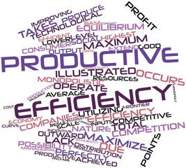 Word cloud for Productive efficiency