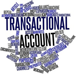 Word cloud for Transactional account